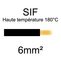 fil cuivre souple isolé silicone 6mm2 noir